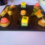 assiette de dessert