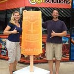 Look for our six foot popsicle at an event near you.