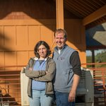 Owner and Winemaker Delphine Gladhart with her husband, Russell