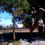 famous Govett The Bushranger bronze in Blackheath