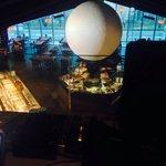 Il ristorante La Grande Luna visto dall'alto nella zona riservata al dj DJDANGER (Marco Mirabell