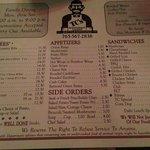 TC's menu