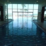 Indoor portion of pool