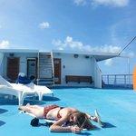 time to sunbathe! top deck