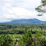 panoramic view of Mount Sinabung