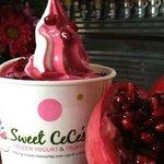 Pomegranate gluten free frozen yogurt at Sweet CeCe's