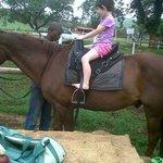 Abi on a horse
