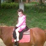 Nikita on a horse