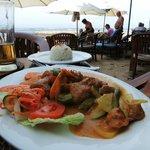 Shrimp, fish, chicken dish