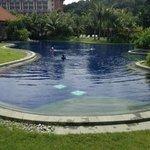 Equarius hotel from beach villas pool