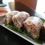 Amazing fresh veggie spring rolls!