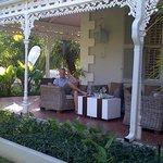 The veranda, perfect for a cold glass of wine