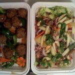 Thai meatballs & duck salad take out