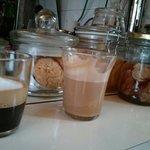 Double macchiato and a cappuccino at Benny's café