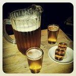 cerveza y shots