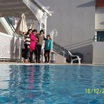 The swimming pool was warm - in the winter we came from the snow in Jerusalem