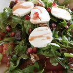 The Agatha - goat's cheese, rocket, figs, tomato, walnuts with pomegranate dressing.