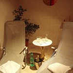 enjoy sauna after your sport, have champagne and relax
