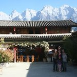 The courtyard with Jade Dragon Mountain in background