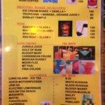 Auszug aus der Cocktailkarte