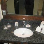 bathroom with elemis toiletries