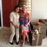 Avec Carmen ma bonne fée pour l'anniversaire de maman