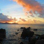 Coucher de soleil sur Anse Patate
