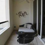 Balcony, open yet private.