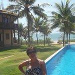 Vista da praia e da piscina, SHOW! Amei!!!