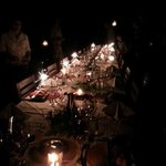 Table sparkling for New Years eve celebrations