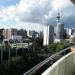 View from room balcony at Auckland