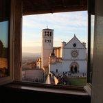 la Basilica al tramonto vista dalla camera