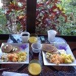 Delightful breakfast on the patio