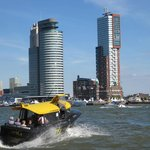 Water Taxi with Wilhelminapier on the background