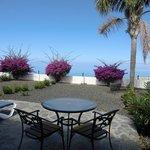 terraza privada con vistas al mar