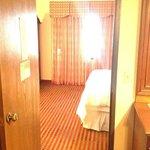 door from living area to bedroom area