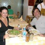 Cenando con mi marido