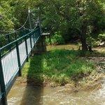suspended bridge over the river