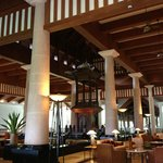 The interior of the hotel lobby