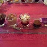 набор десертов к чаю