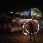 31. December Party with fire show of Jasmin Katz