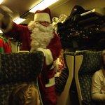 Santa coming on the train