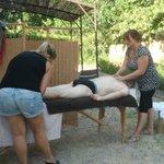 séjour Bien être massage en extérieur