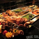 Delicious roasts with freshly prepared vegetables and trimmings