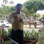Don Juan taking us on the Grenada tour