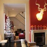 Lounge areas at Christmas