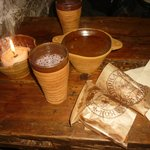 Lingonberry juice, elk soup and yummy pies