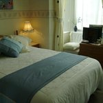 Our delightful front facing bedroom with private bathroom facilities