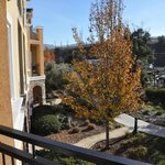 Courtyard view from balcony