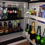 Well stocked mini bar